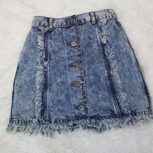 CARMAR Distressed Denim Jean skirt xs